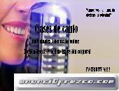 Clases de canto/Profesora de canto